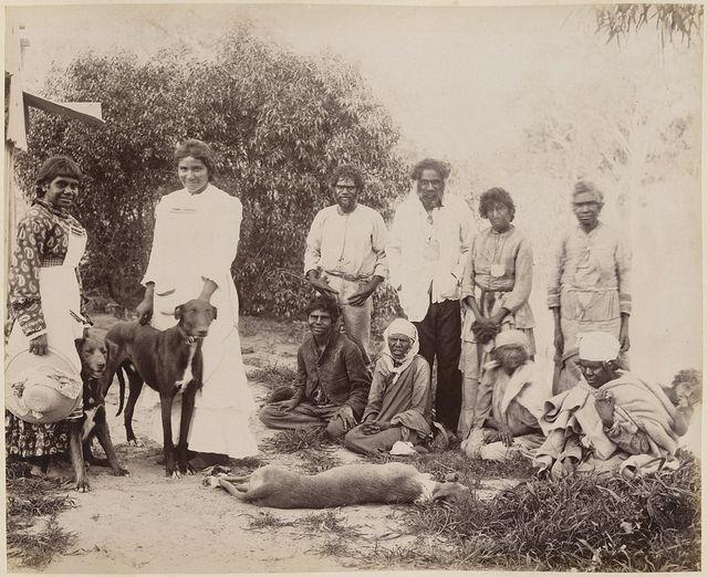 Group Of Aboriginals At Dunlop Station Homestead Darling River New South Wales Aboriginal History Australia History History