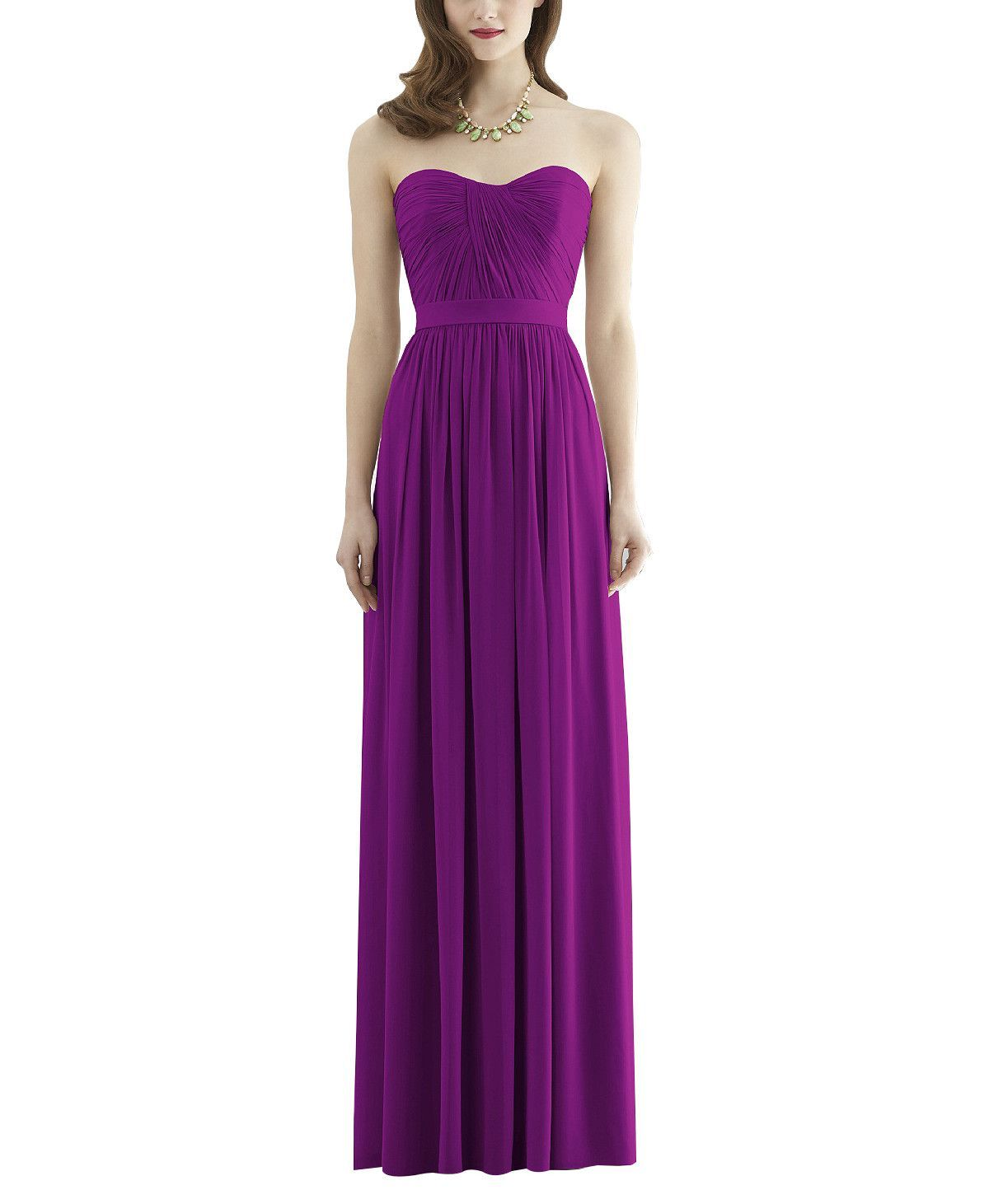 Dessy Collection Style 2943 | Matte satin, Bridesmaid dress styles ...