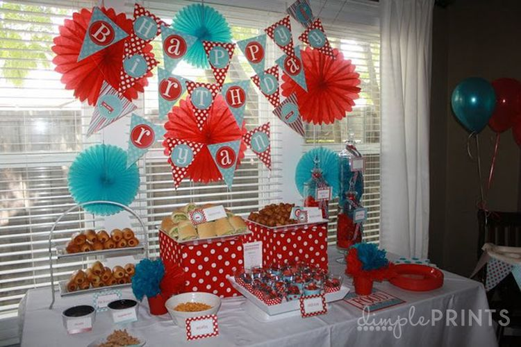 Red Wagon Printable Party Package