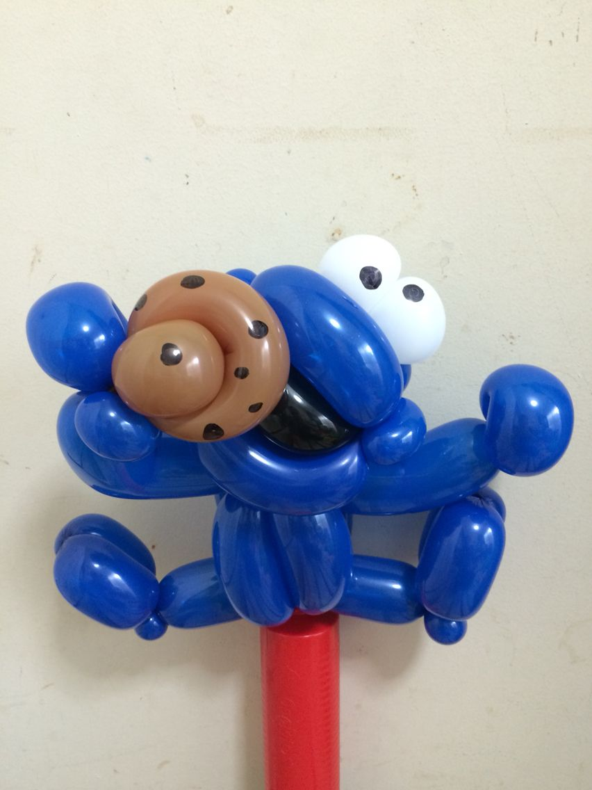 Twist Balloon SESAME STREET Cookie Monster @gussy00balloon