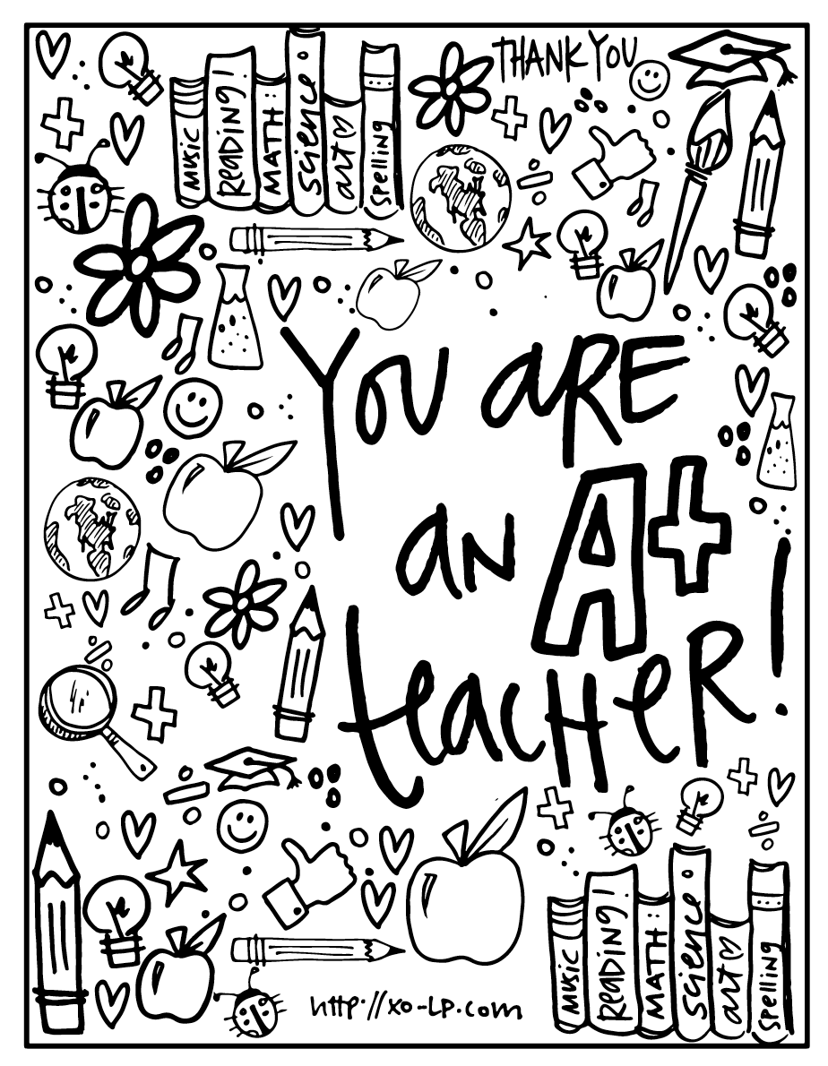 - Teacher Appreciation Day FREE Printable From XO-LP. #teachergi