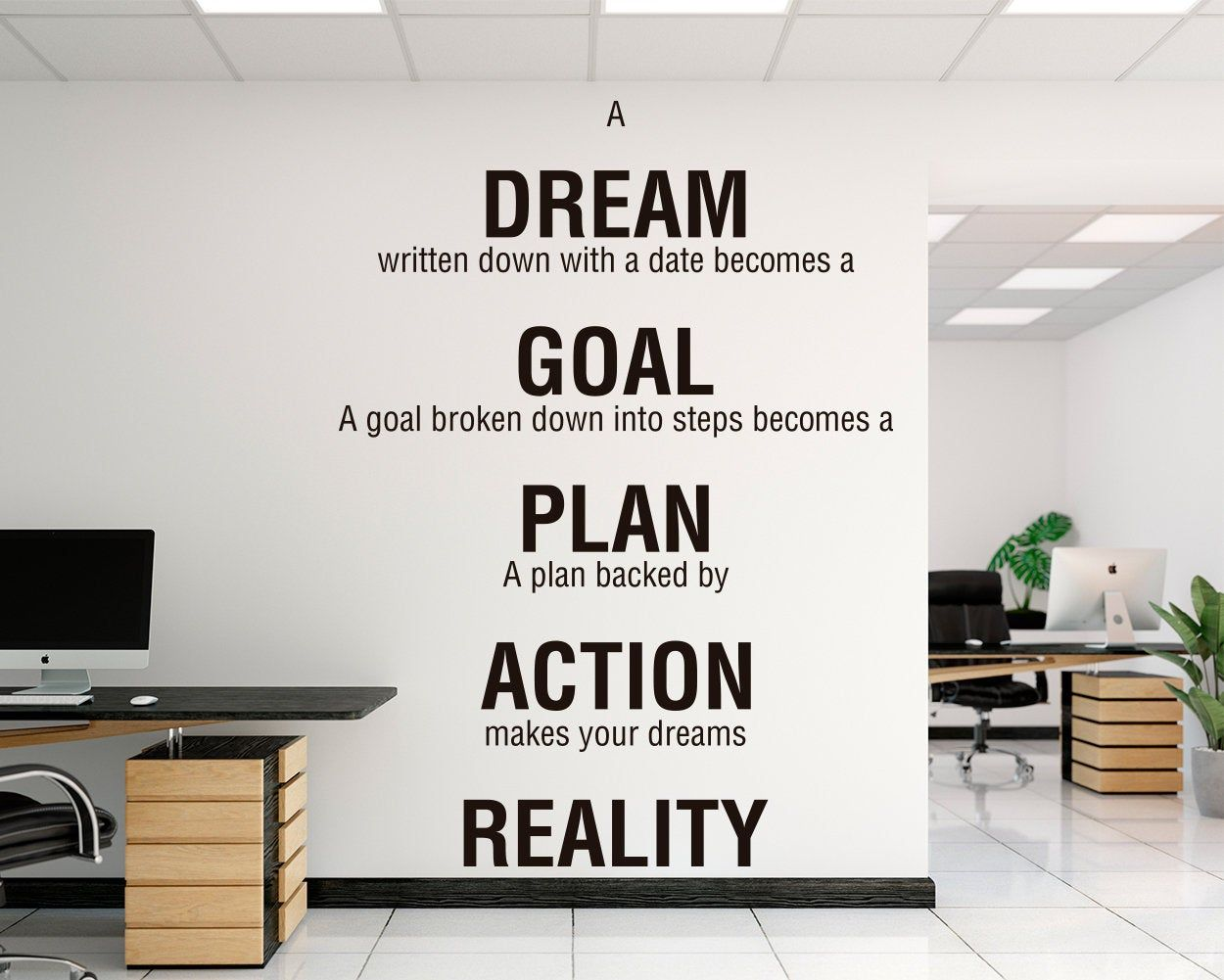 Office Decals Motivational Inspiring