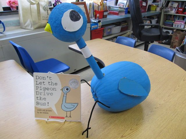 book character pumpkins --love pigeon books
