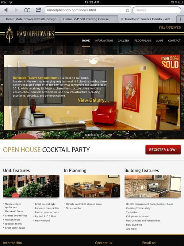 Washington Dc Real Estate Website Design Real Estate Website Design Website Design Real Estate Website