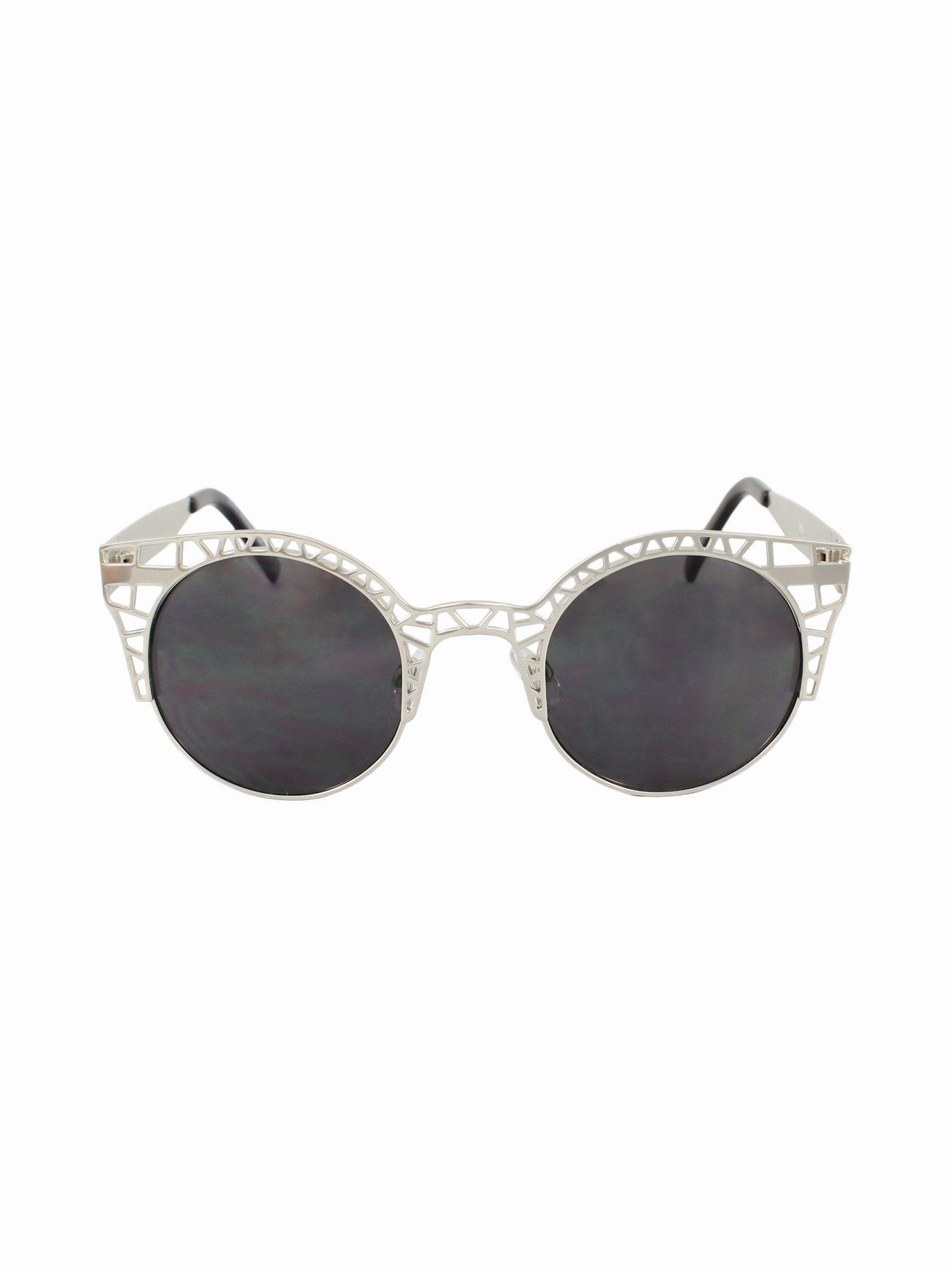 Cat Eye Lens Half Caged Sunnies
