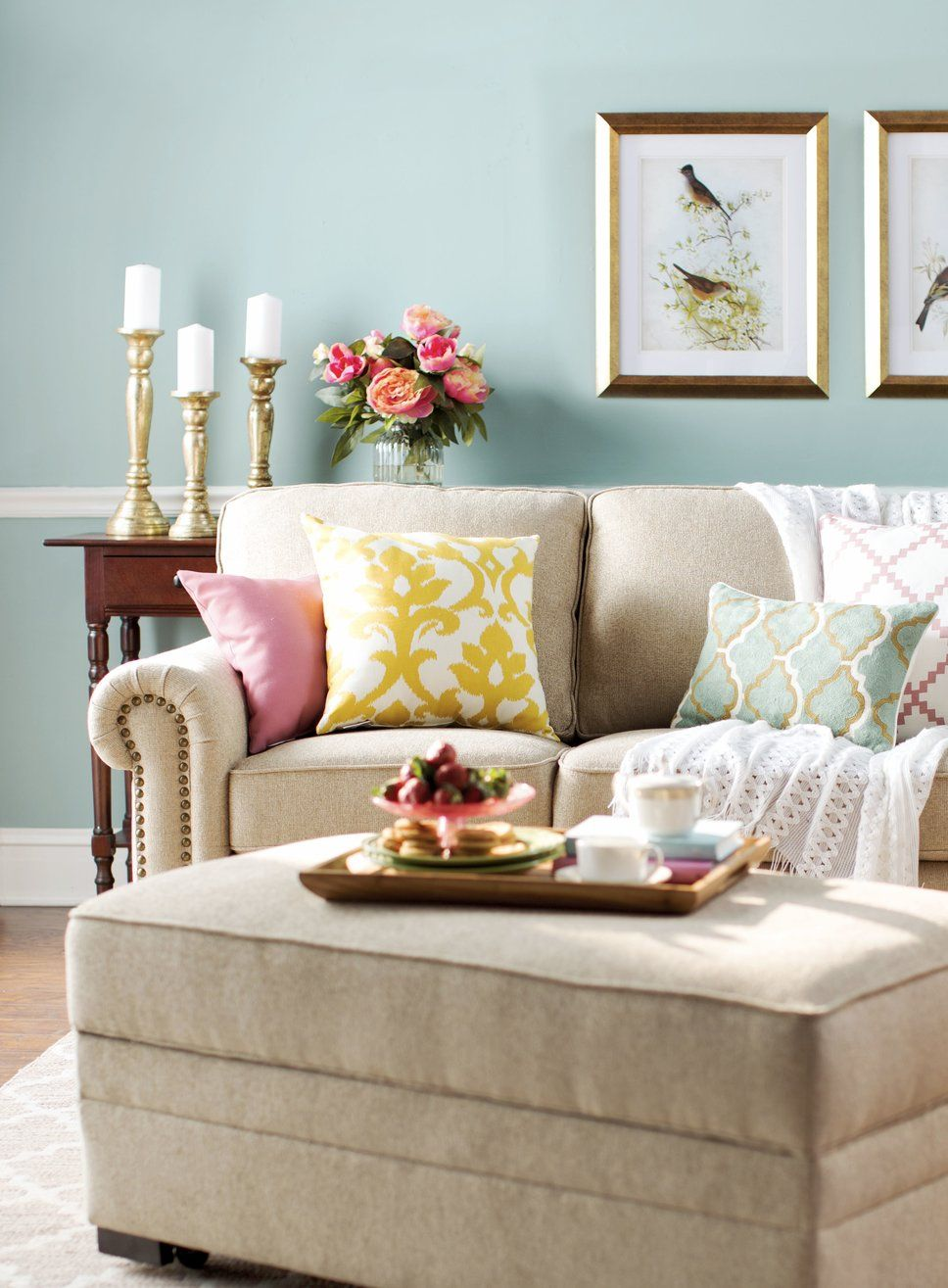 Traditional Living Room Design Photo by Wayfair  Traditional