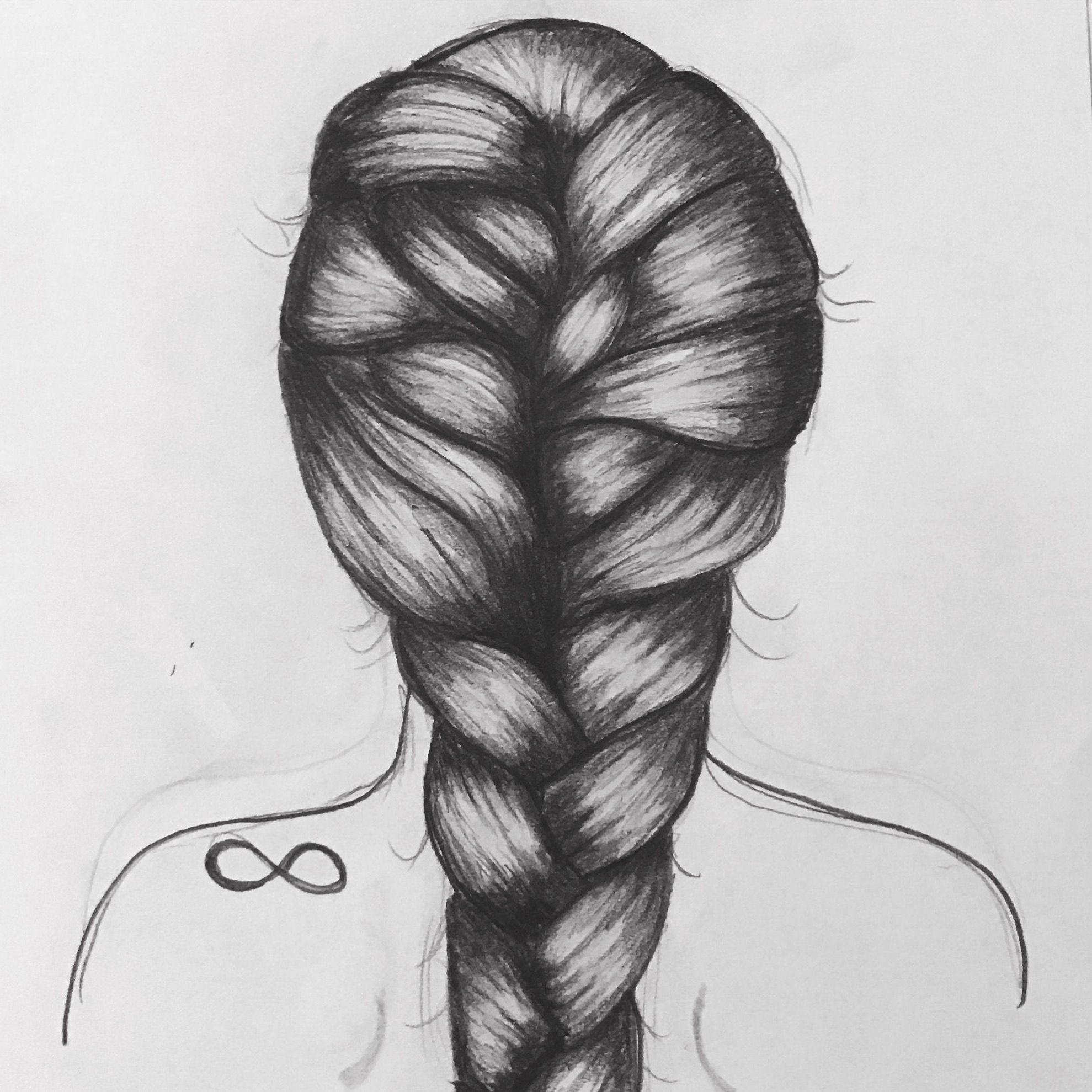 Image Result For Back Of Girl Hair Drawing Girl Hair Drawing Hair Sketch How To Draw Braids