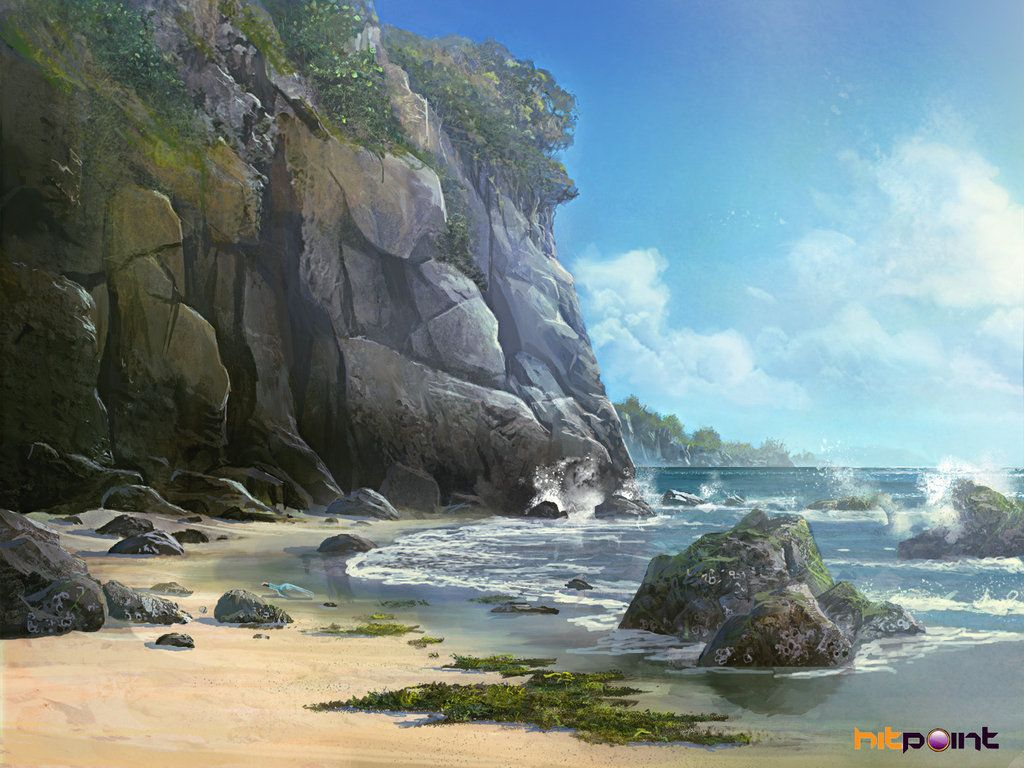 Beach Concept By Tyleredlinart On Deviantart Fantasy Landscape Island Art Landscape Concept