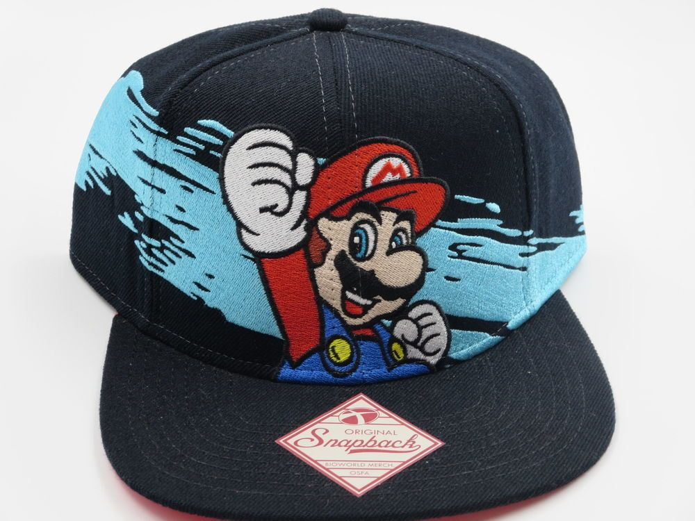 Nintendo NES Super Mario Wave Bioworld Snapback Hat  Bioworld  BaseballCap 712f5087875