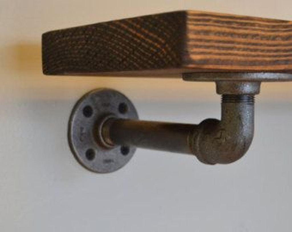 2x Industriel Steampunk Style étagère Parenthèses steel pipe Shelf