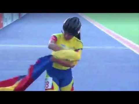 Gabriela Rueda-Campeona Mundial 1000 Mtrs Pista-Mundial Holanda-Selección Colombia Juvenil -2018 - YouTube