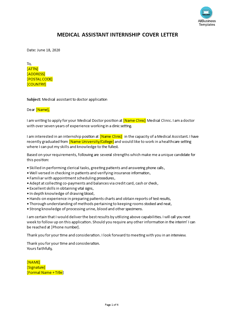 How To Write An Attractive Job Application Letter For Medical Assistant For Application Letters Application Letter For Employment Writing An Application Letter