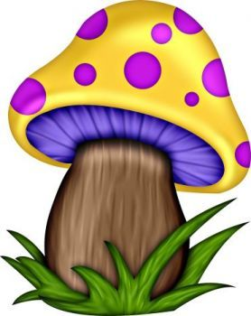 Yellow mushroom with purple dots (48 pieces) | Rock ...