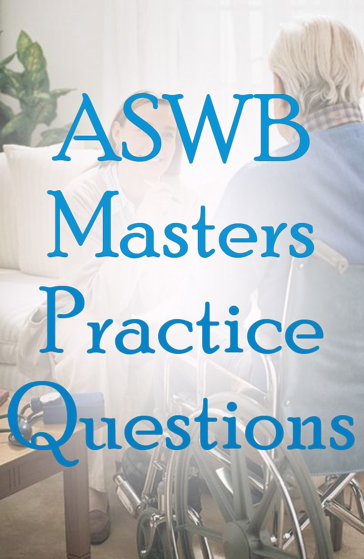 Are you studying for the ASWB Masters exam? If so, be sure to take  advantage of these free ASWB Masters exam practice questions. #aswb