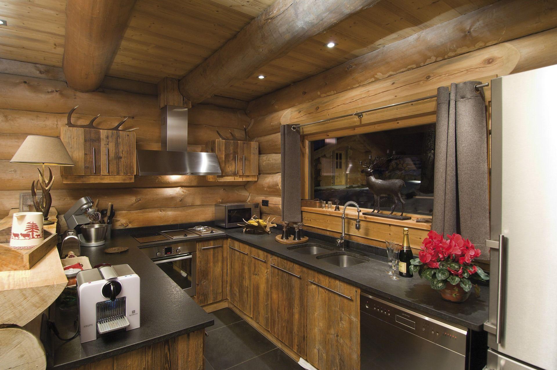Cuisine de chalet  Inspiration nordique en 2019  Chalet Chalet montagne et Decoration chalet