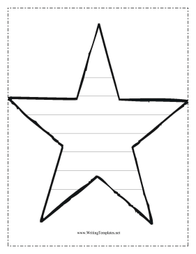 star writing template writing template free to download and print