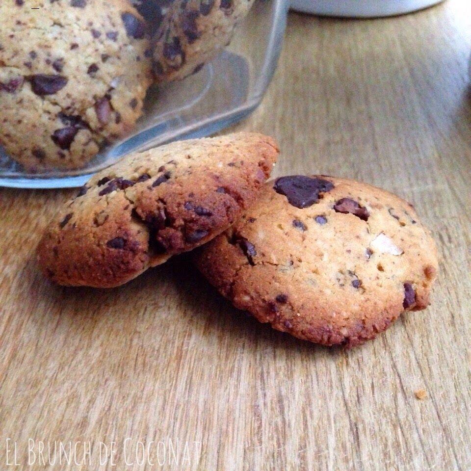 Galletas de chocolate sin gluten/ Paleo chocolate-chips cookies