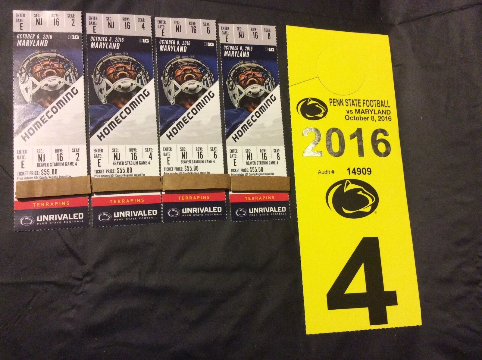 Tickets 4 Penn State Football Tickets Vs Maryland Parking Aisle