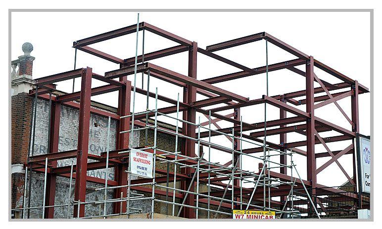 Uxbridge Project Steel fabrication, Steel beams, Structures