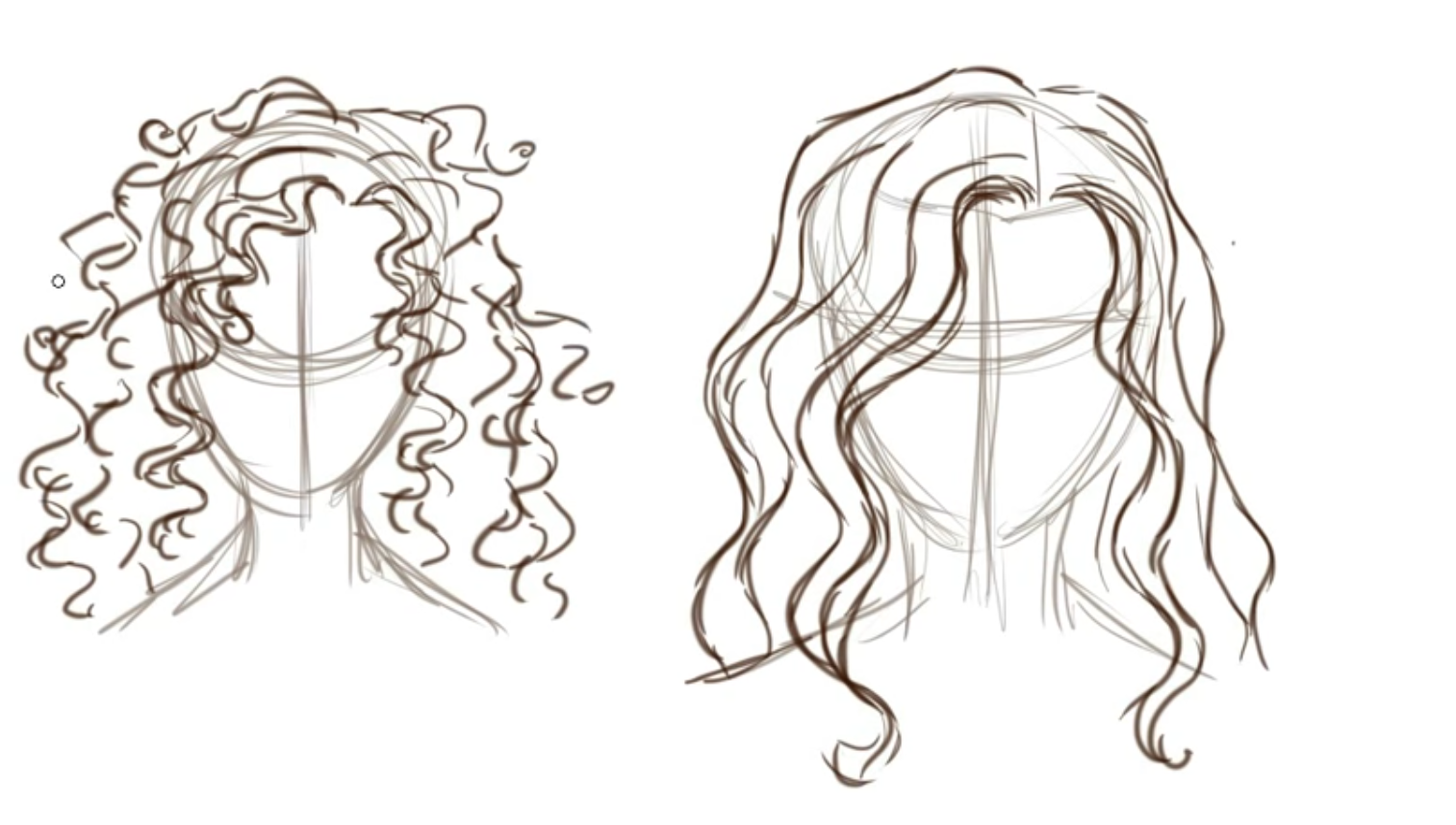 How To Draw Curly Hair By 87tors Drawing Technique Curly Hair Drawing Curly Hair Styles How To Draw Hair