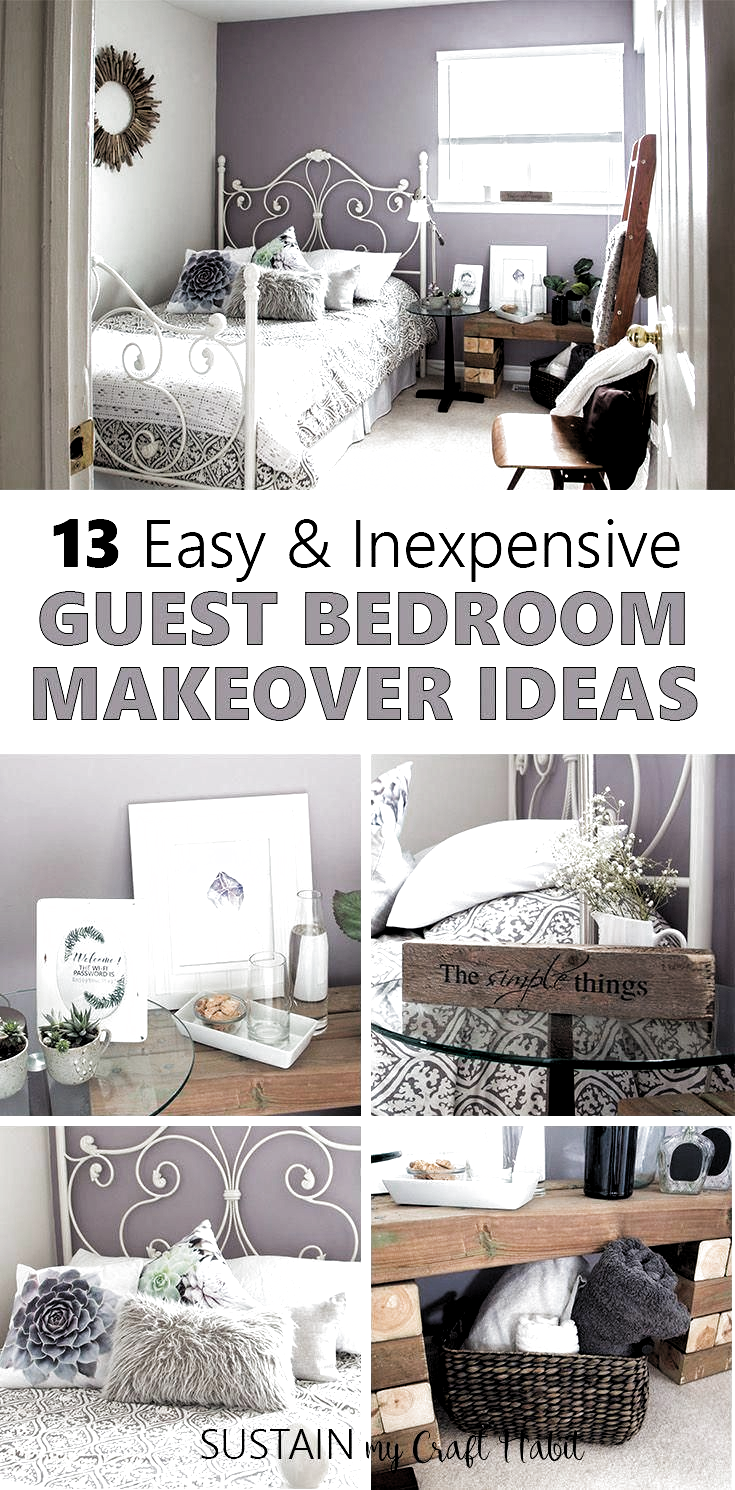 Guest Bedroom Ideas On A Budget Guest Bedroom Ideas In 2020 Guest Bedroom Decor Guest Bedroom Design Bedroom Diy