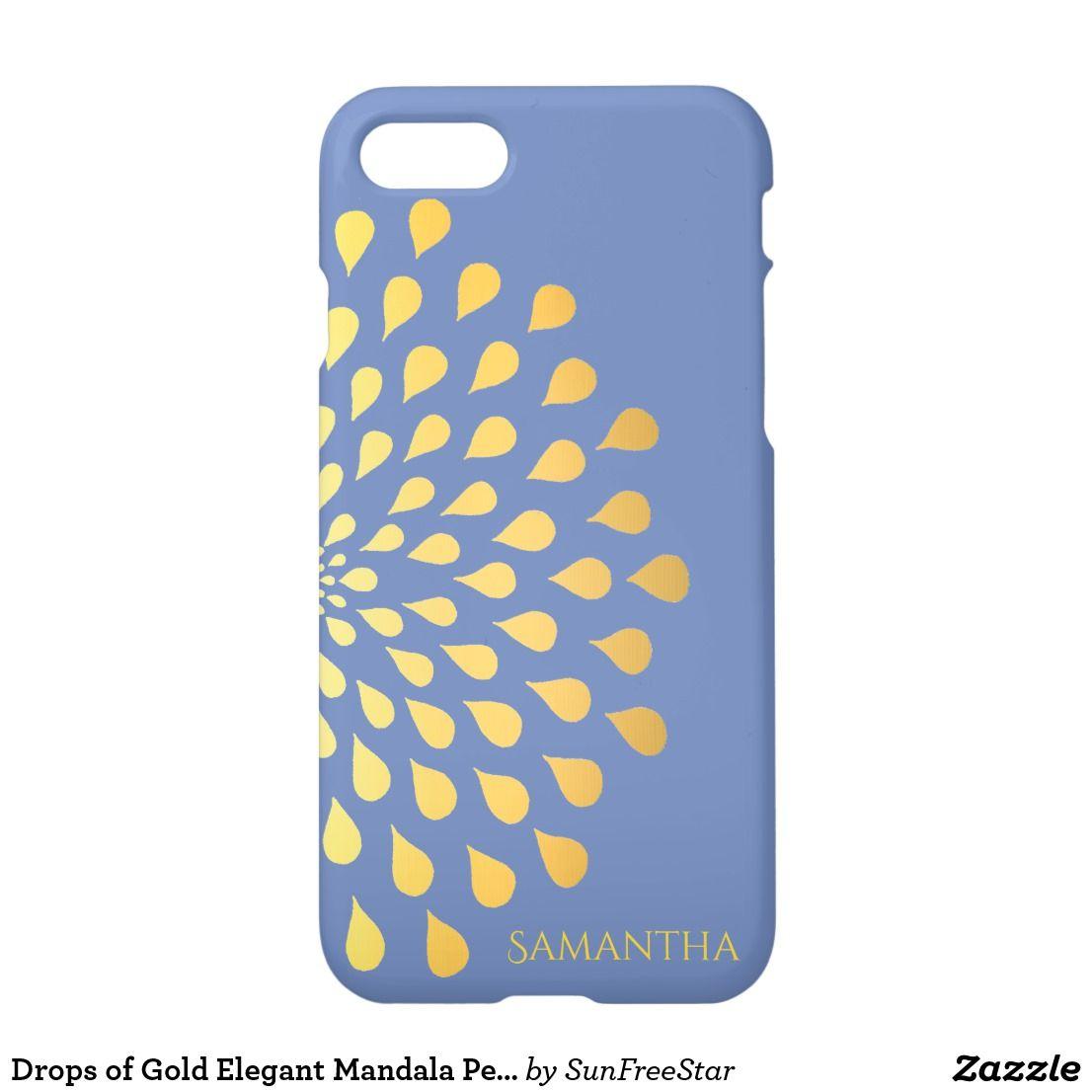 Drops of gold elegant mandala personalized iphone 8 7 case
