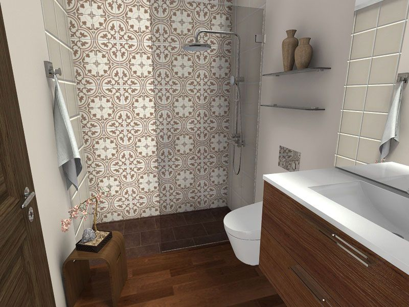 Ba o peque o piso madera a ba os bathrooms pinterest for Cuartos de bano imitacion madera