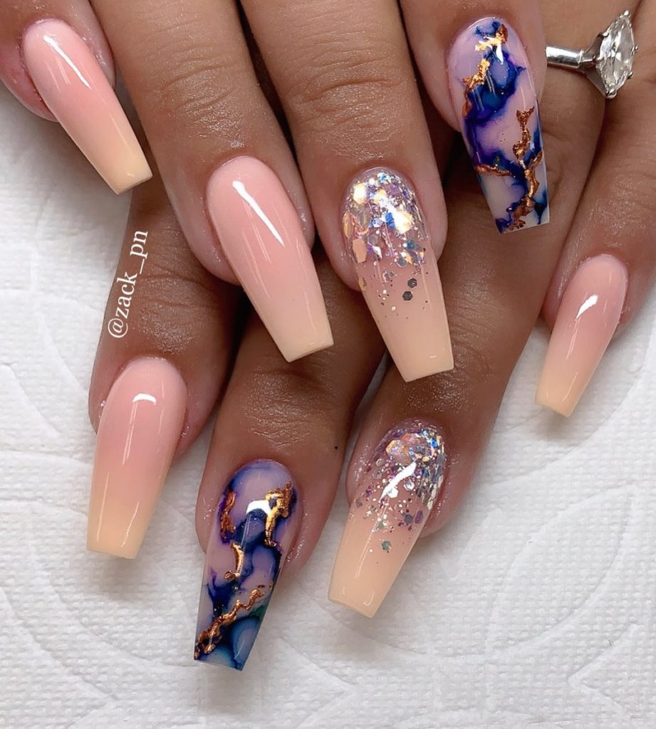 26+ MOST FASHIONABLE ACRYLIC COFFIN NAILS ART DESIGNS TO