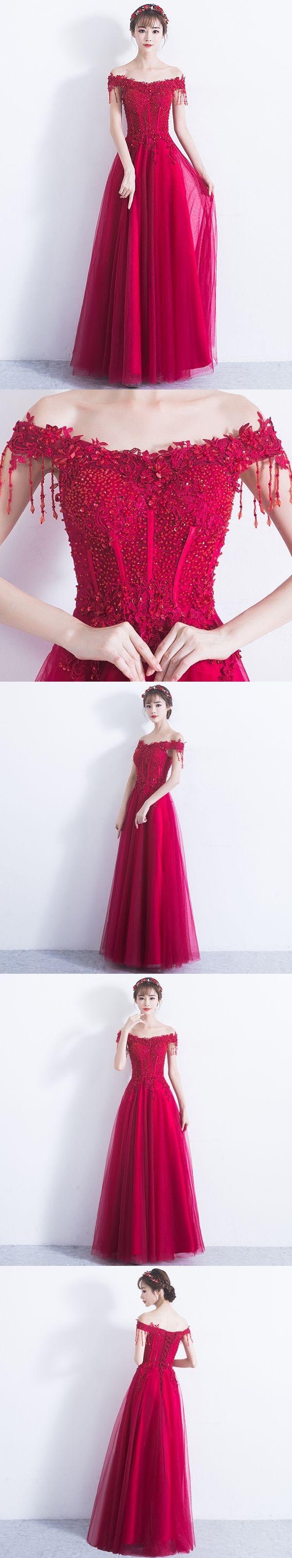 Sexy prom dresses offtheshoulder aline floorlength sparkly long