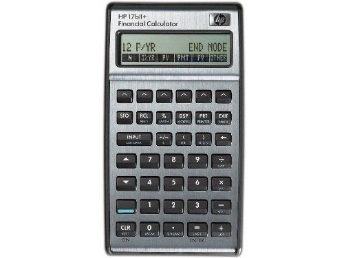 HP 17BII+ Financial Calculator, Silver by HP, http\/\/wwwamazon - financial calculator