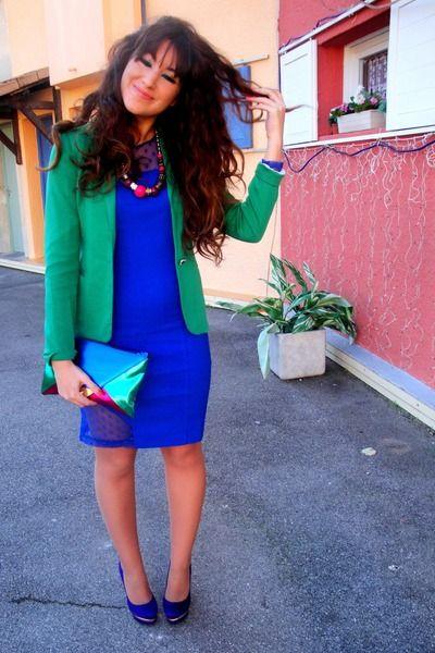 Teal Primaluxe Manila Pumps, Aquamarine Zara Dresses