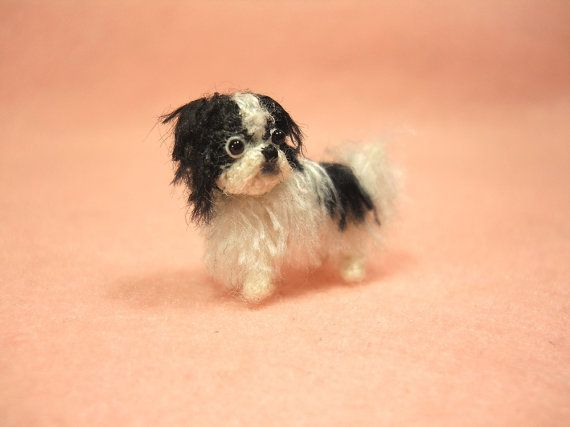 Japanese Chin Dog Miniature Dollhouse  Picture
