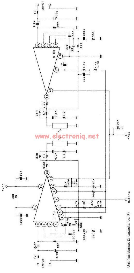 stk4241 audio amplifier circuit | AMPLIFIER | Pinterest