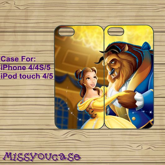 iphone 4 case,iphone 4s case,cute iphone 4 case,iphone 5 case,cute iphone 5 case,Beauty and the Beast,best friends case,in plasitc,silicone by Missyoucase, $25.99
