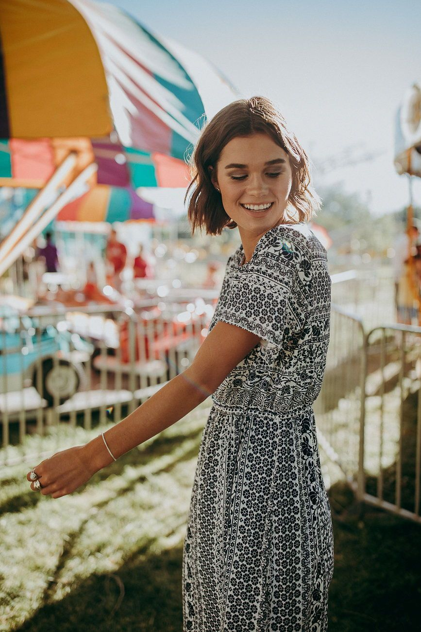 1414c8ac274a The Chantal Pattern Dress in Blue + White in 2019 | Piper and Scoot ...