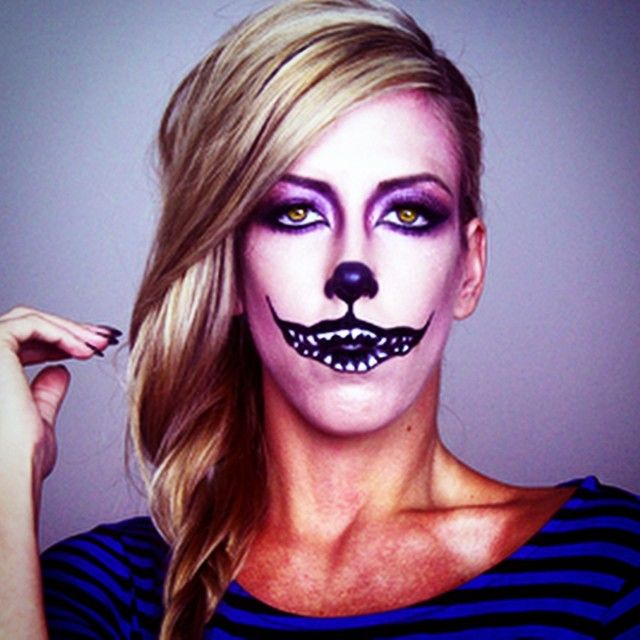 Cheshire Cat Halloween Makeup! #halloween #makeup #halloweenmakeup #costume #costumeideas #sexycostume #halloween2014 #kittycat #catmakeup #caturday #cheshire #cheshiremakeup #kittymakeup