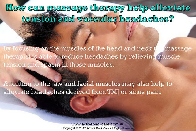 Massage Therapy Helps Alleviate Tension and Vascular Headaches