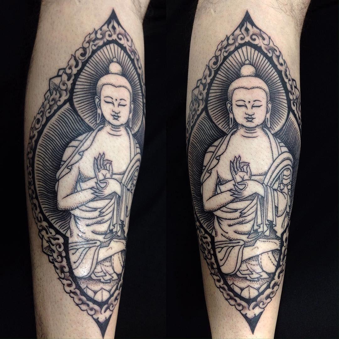Da da danielle colby cushman tattoos -  Buddha Buddhatattoo Linework Dotwork Malk Malkmotta Malktattoo Tattoo