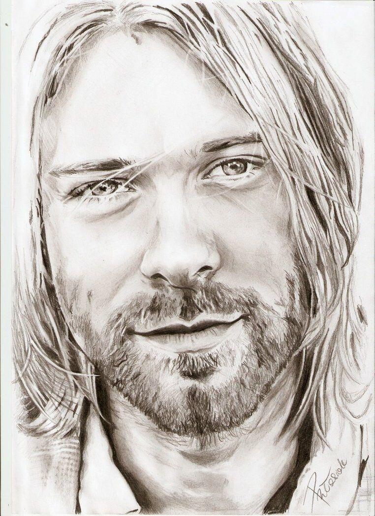 Kurt Cobain drawing