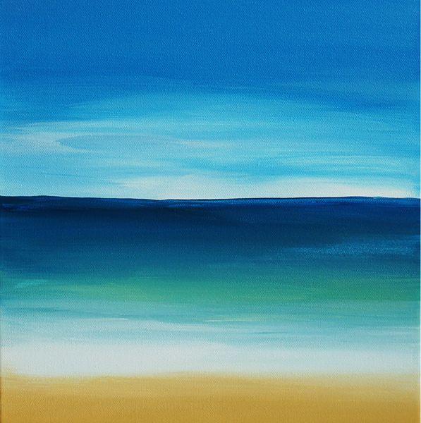 Beach Dreams Kl Studio Easy Landscape Paintings Beach Scene