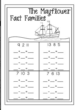 November & Thanksgiving Math Printable No Prep Packet
