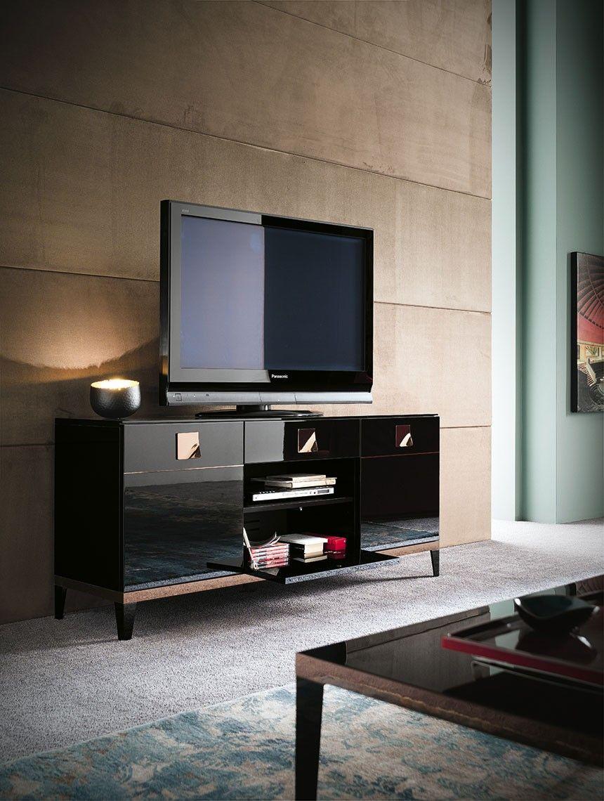 Alf Contemporary Mont Noir Tv Unit Entertainment Furniture  # Meuble Tv Carlo