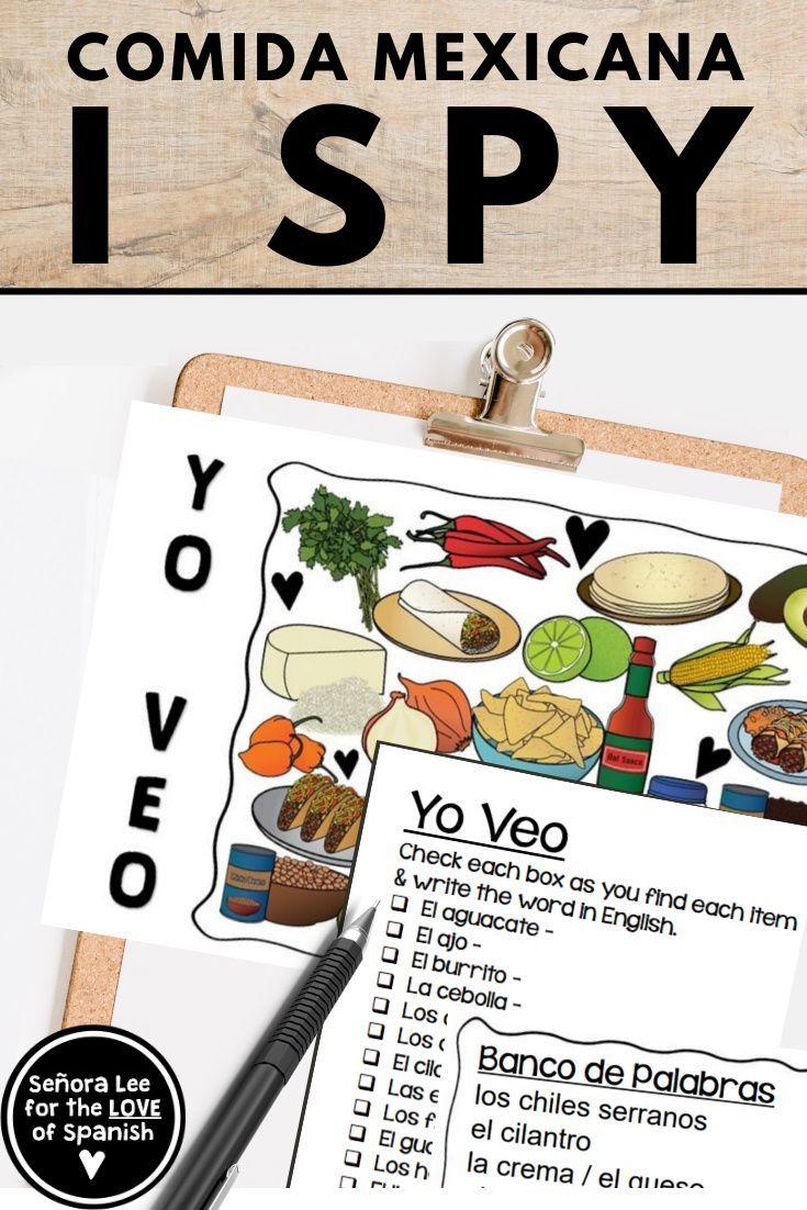 Spanish Food Unit Mexican Food Vocabulary Spanish I