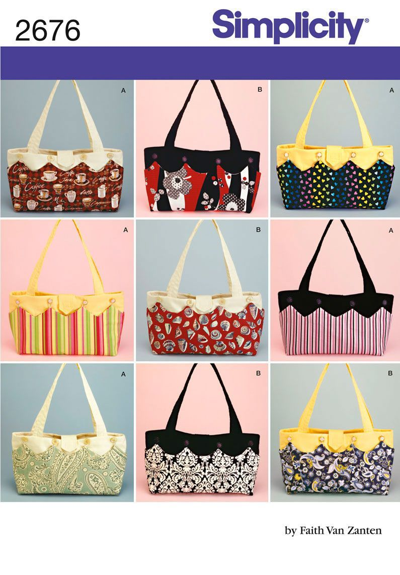 Simplicity : 2676 - I LOVE THESE BAGS!!  Sew easy and too cute. - #simplicity #these