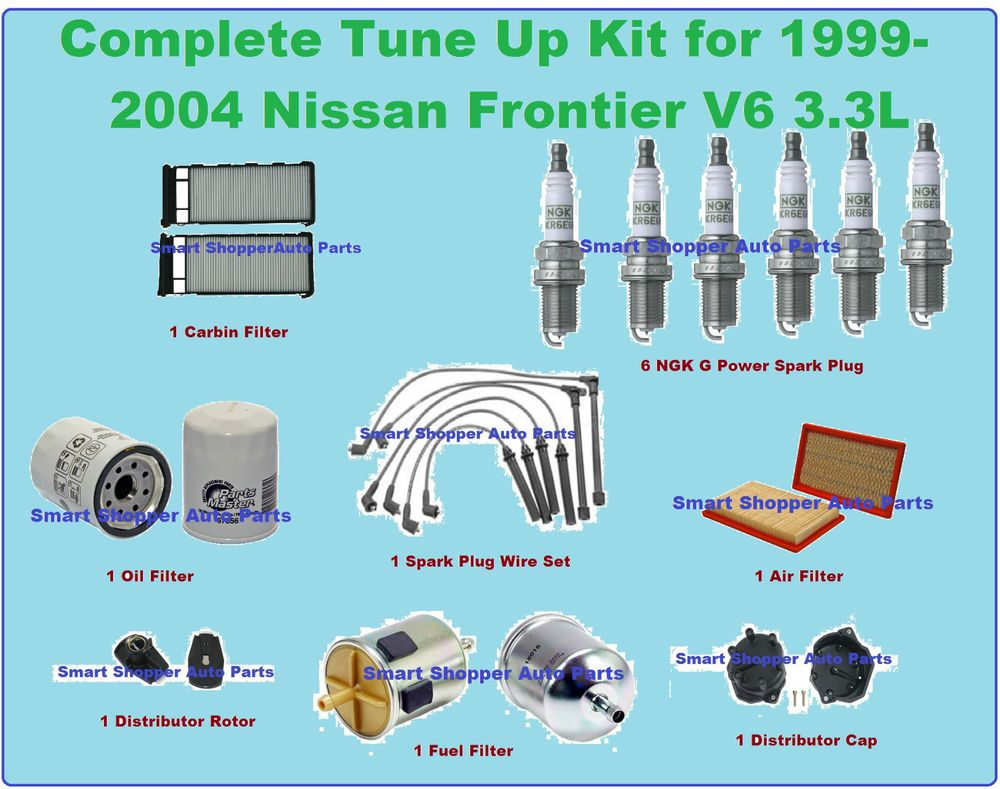 Ignition Tune Up 99 04 Frontier Spark Plug Wire Set Oil 1999 Altima Fuel Filter Air Aftermarketproducts