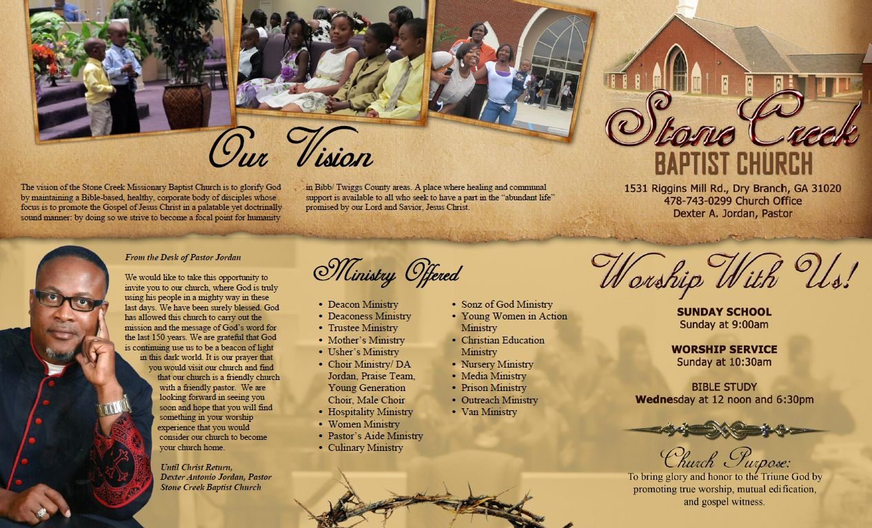 Church Brochure Design  Miranda Design Studio Brochure Design