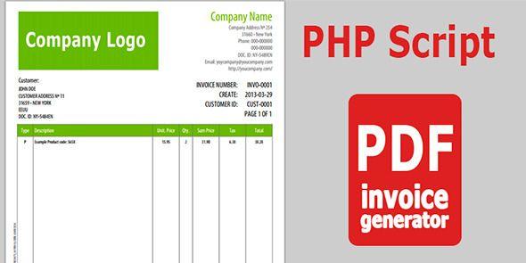 PDF Invoice Generator v 10 Code-Scripts-and-Plugins Invoice