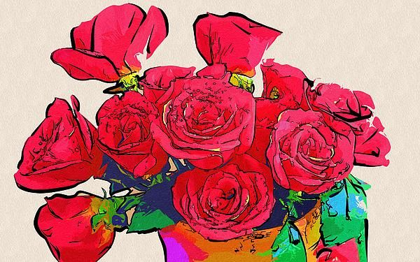 Drawing And Painting Flowers by Michael Vicin #art #flowers