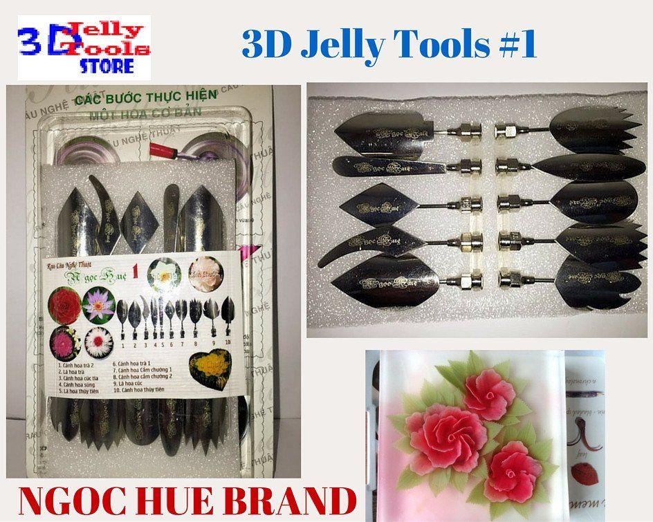 Type 10-3d Jelly Cake Tools 3d Gelatin Art Tools 10 Pcs//set