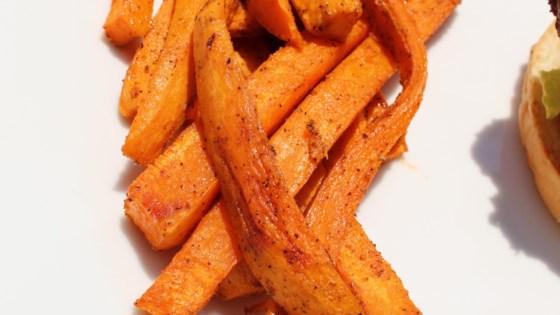 Oven Baked Sweet Potato Fries Recipe Sweet Potato Fries Baked Sweet Potato Recipes Fries Sweet Potato Fries
